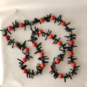 Black Japanese Coral Necklace