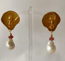 Two-in-a-Million Pectins and Pearls Vermeil, Pierced Earrings