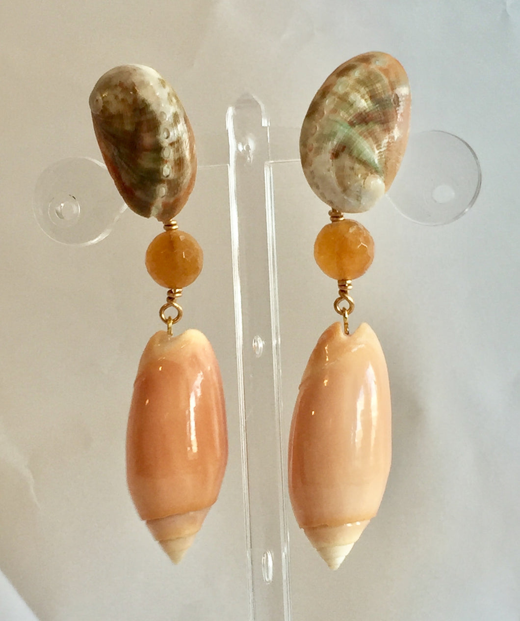 Monochromatic Drop Earrings