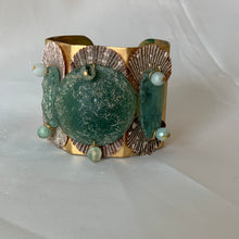 Ancient Roman Glass and Brass Cuff Bracelet