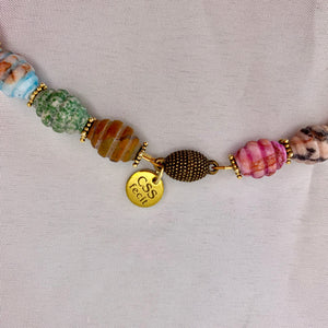 Mixed Shell and Gem Necklace