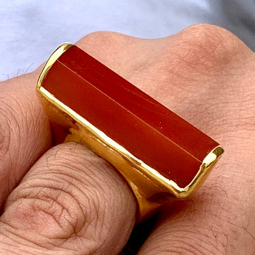 Men's Vermeil Carnelian Ring