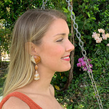 Cockle, Cone and Cyprea Shell Vermeil Earrings