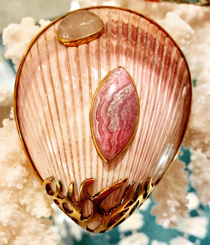 Exotic Scallop Brooch