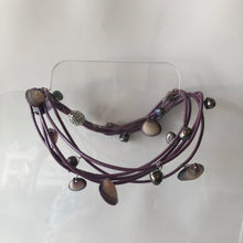 Lilac Leather Wrap Necklace/Bracelet