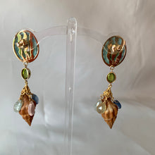 Magical, Colorful Citrine, 14-karat Lantern Earrings
