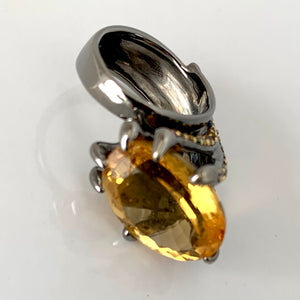Citrine Bird Claw Ring