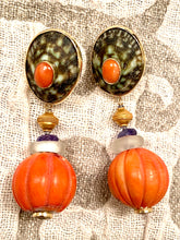 Antique Coral, 14-Karat Gold Earrings