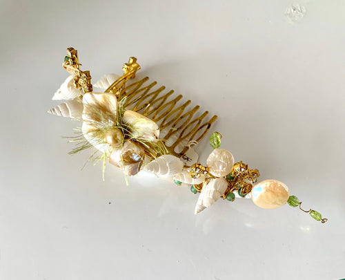 Peridot, Shell Hair Comb