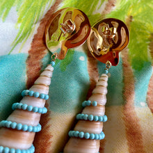 14-Karat Gold Terebra, Turquoise Earrings