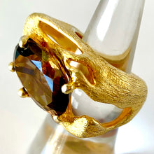 Rich Smoky Quartz Vermeil Ring