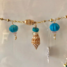 ,Turquoise and Shell Necklace