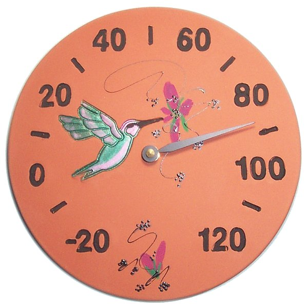 Southwest Hummingbird Wall Thermometer
