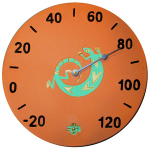 Southwest Lizard Patio Thermometer