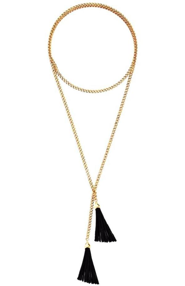 Badu | Black Tassel Necklaces