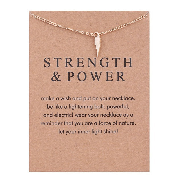 Strength & Power | Necklace Card