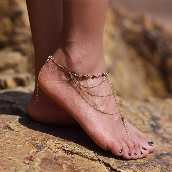 Gilana | Glass Beads Anklet