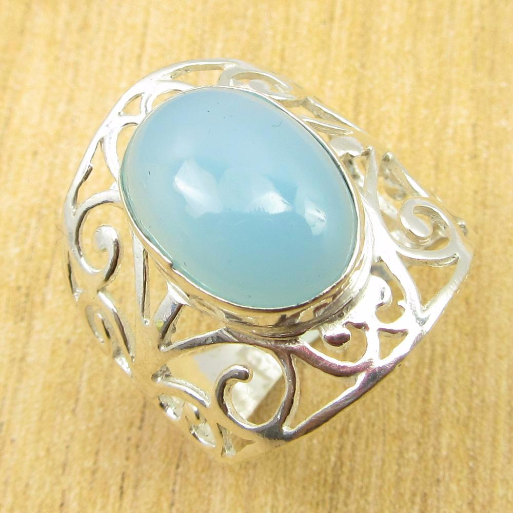 Belle | Blue Chalcedony Ring