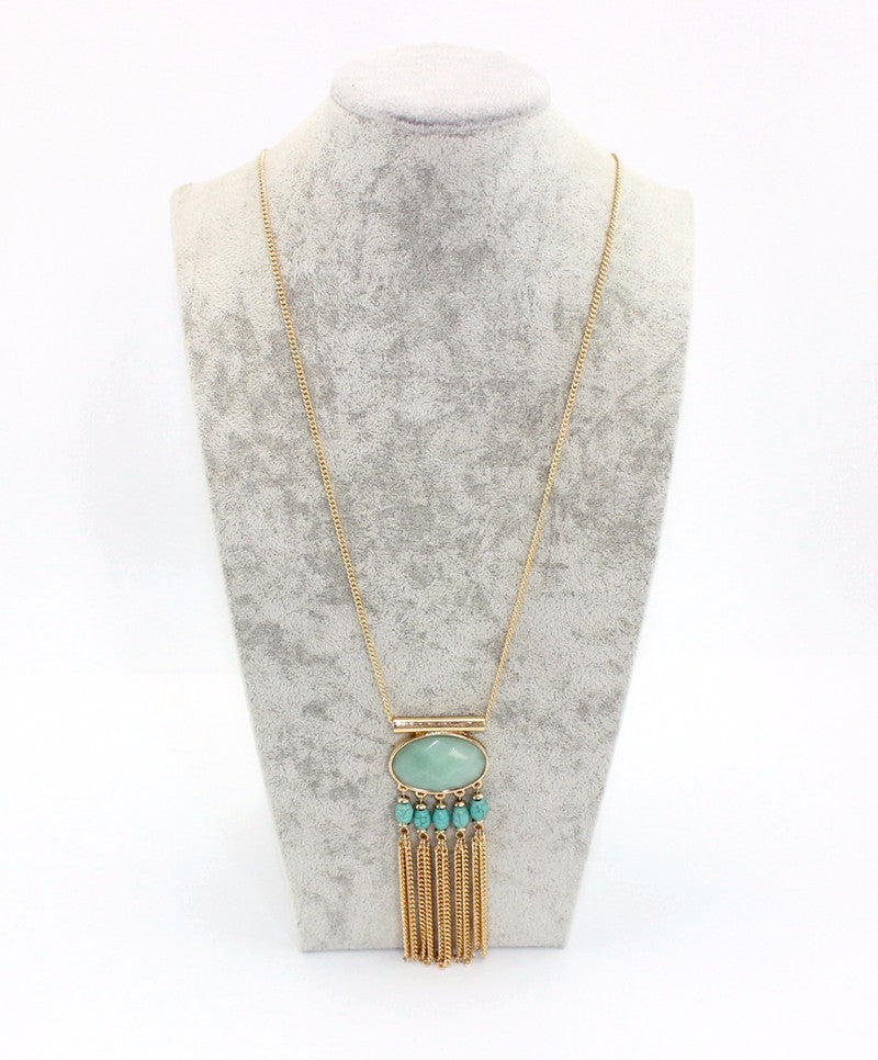 Gabriella | Green Stone Necklace