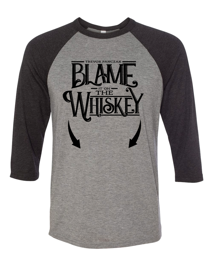 Blame it on the Whiskey Gut / Baby Bump Baseball Tee