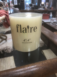 Unscented Pillar Candle
