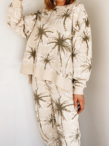 Palm Tunic Slit Crew