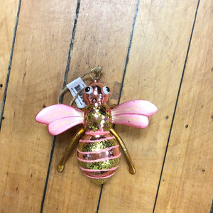 Pink Bumblebee Ornament