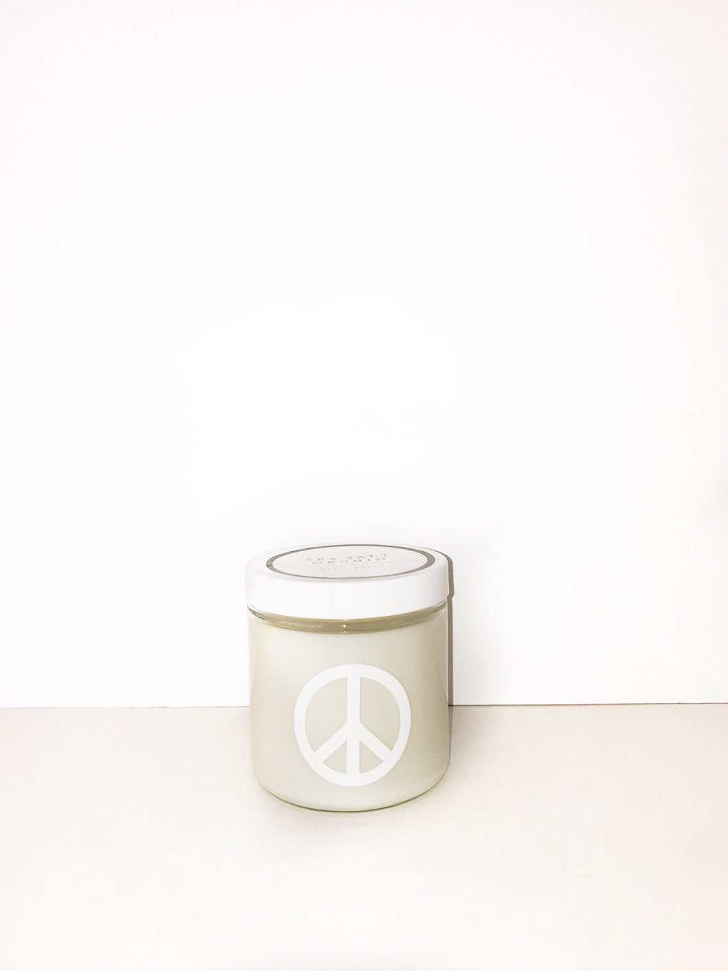 Lemon Pound Cake Peace Sign Candle
