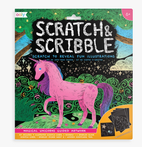 Ooly Scratch & Scribble-Magical Unicorn