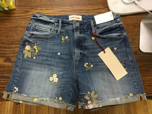 Driftwood denim short, floral sale