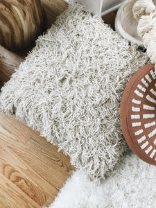 Shaggy Textured Layering Pillow