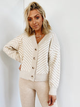 Blush Chevron Eyelash Cardigan