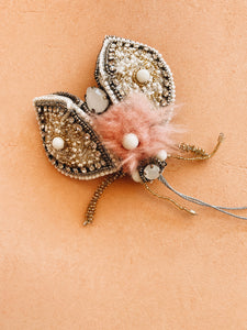 Beaded Coccinelle ornament