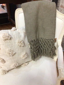 Olive Macrame Throw