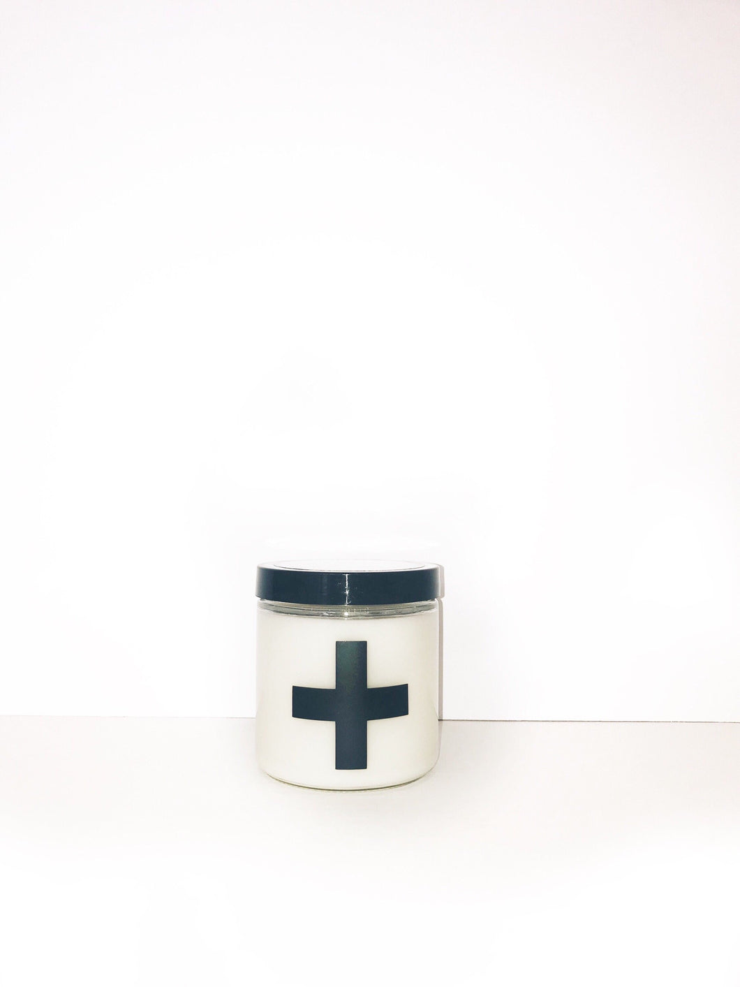 Unscented Black Swiss Cross Candle