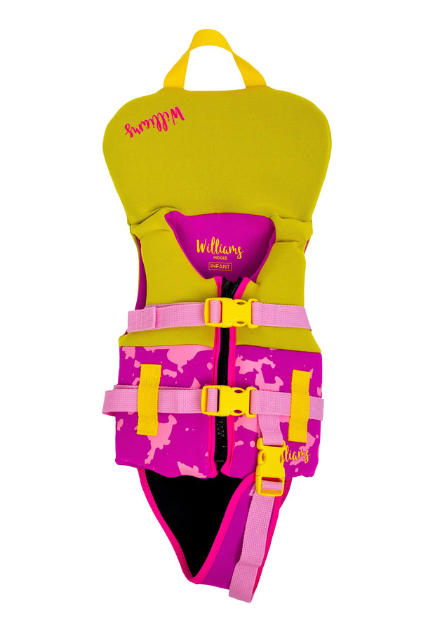 Midgee Infant Kids Vest S 10-15Kg neo vest kids Von Zipper Pink/Yellow 10-15kg