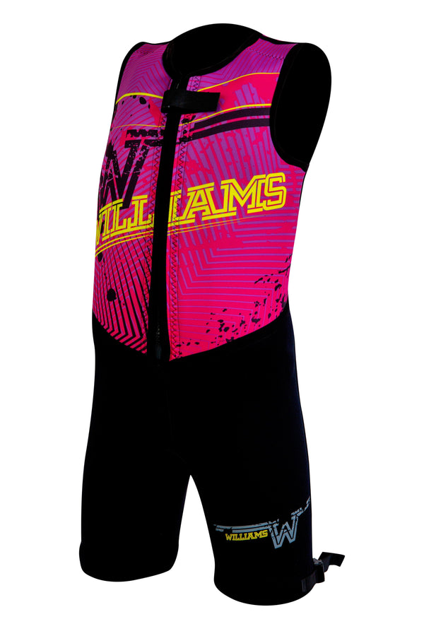 Junior Comp Barefoot Suit wetsuits Williams pink 10