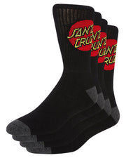 Cruz Youth Sock 4Pr