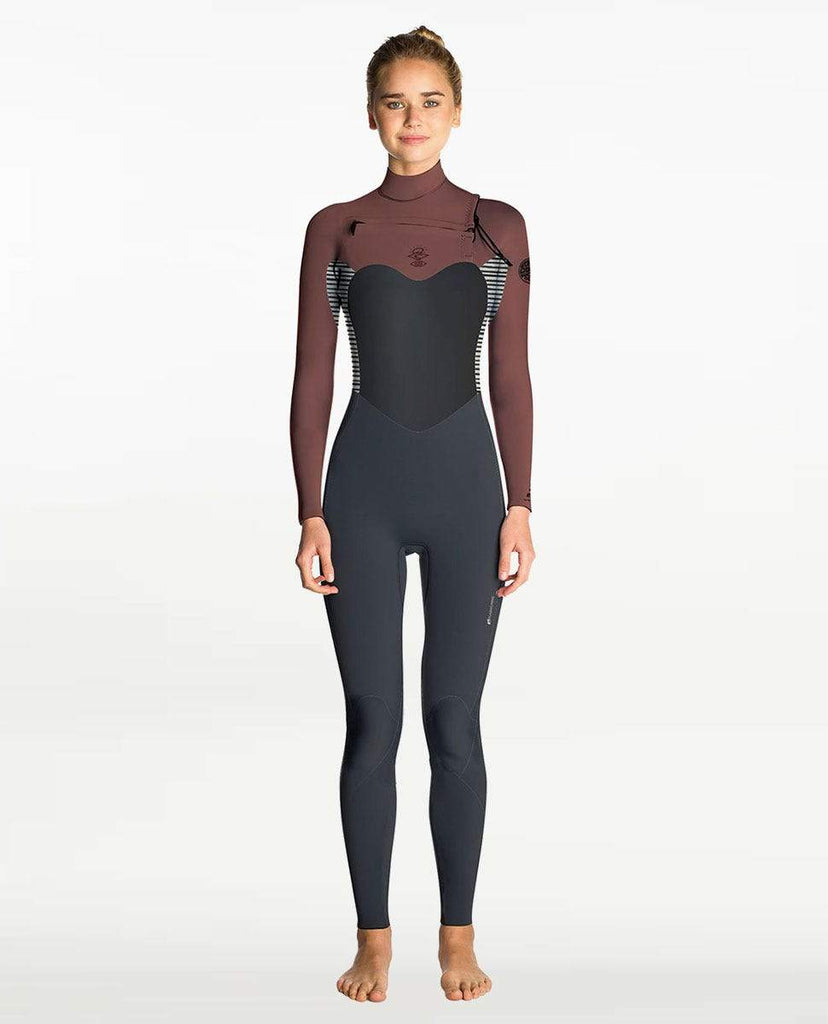 Womens 4/3mm Flashbomb Wetsuit Steamer wetsuits rip curl Rust 6