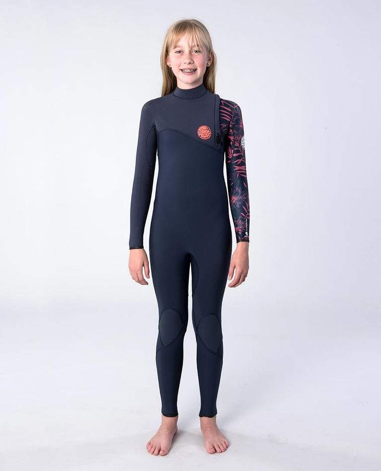 Junior Flashbomb 4/3mm Zip Free Wetsuit Steamer wetsuits rip curl Slate 6