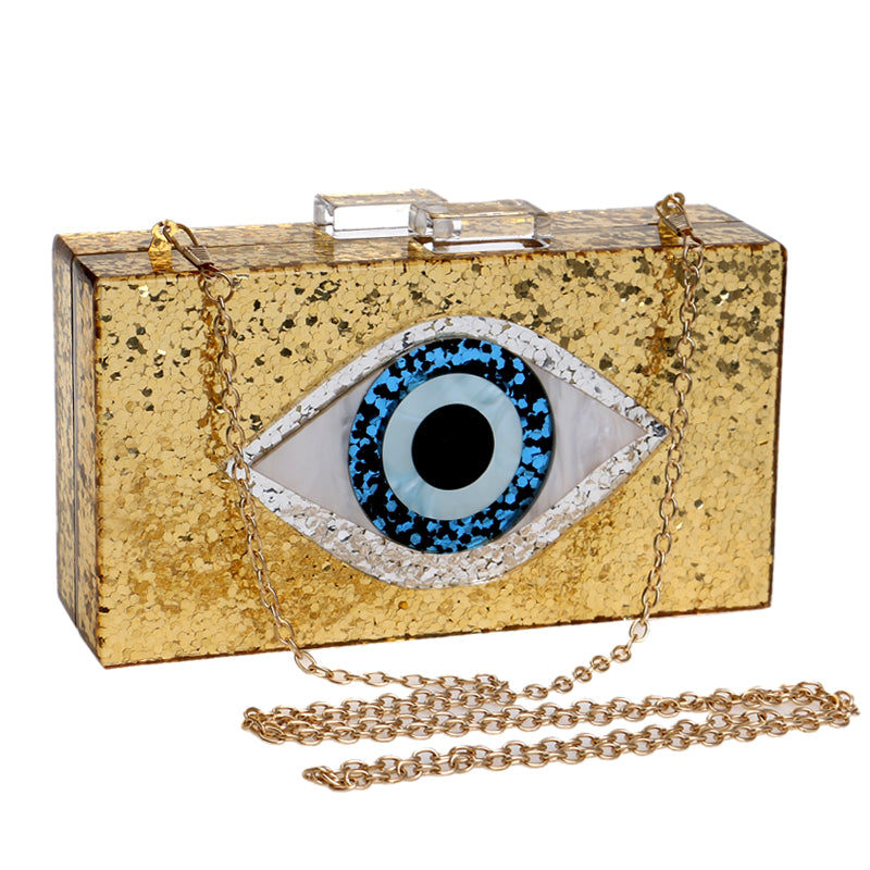 Stylish Eye Clutch Vibes With Detachable Shoulder Chain(PREORDER)