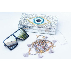Stylish Eye Acrylic Clutch With Detachable Shoulder Chain