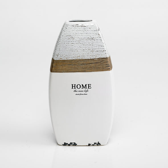 Grained Home En-scripted Vase