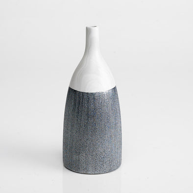 Modern Marble White & Grey Textured Vase