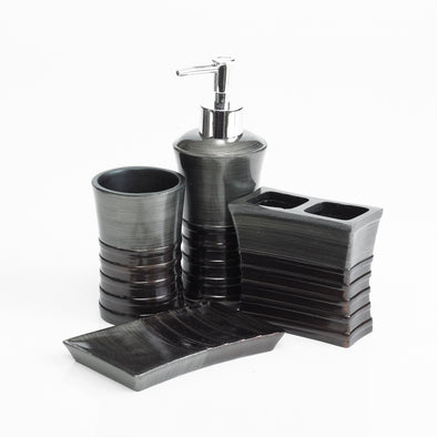 De-luxe Olivâtre Bathroom Accessory Set Of 4