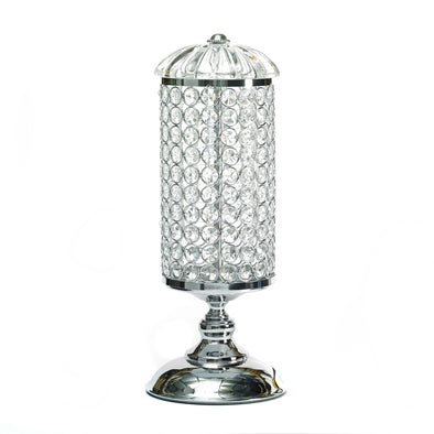 Silver Crystal Glass Domed Led Table Lamp