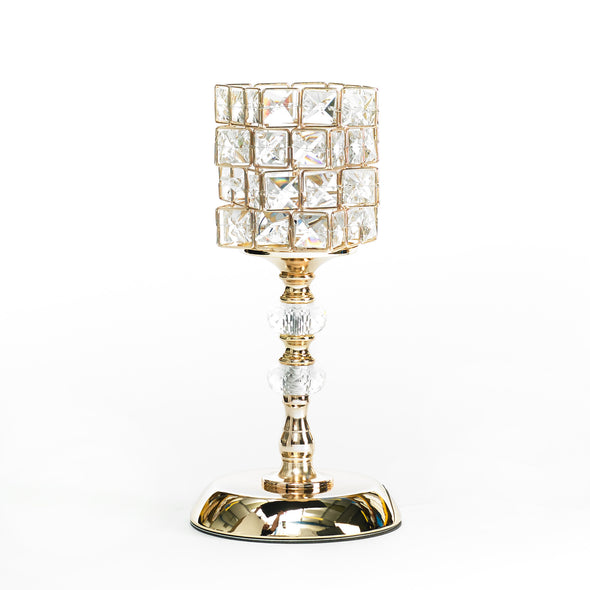 Gold Crystal Cube Led Table Lamp