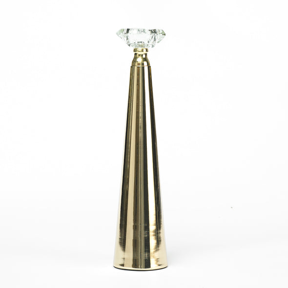 Elegant Gold Taper Candle Holder