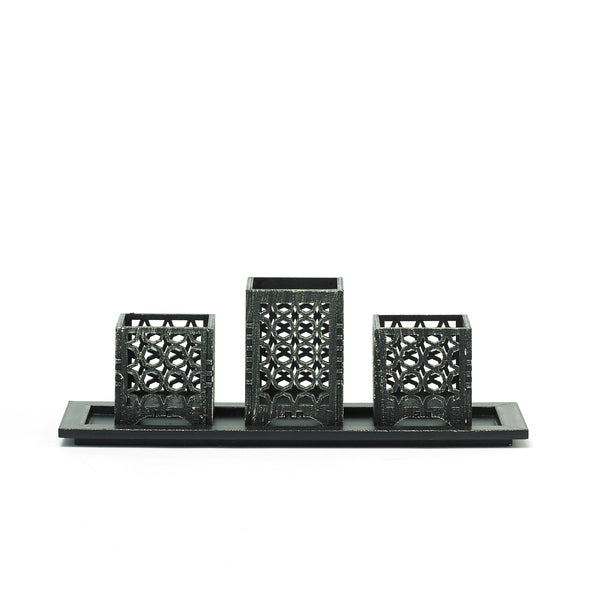 Black Decorative Intricate Versatile Tealight Candle Holder