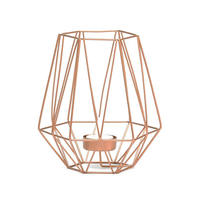 Trendy Rose Gold Wired Tea-Light Candle Holder